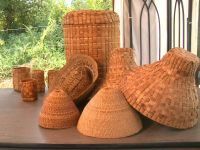 Melvin Williams shows how to weave a cedar bark basket and talks about what they are used for!