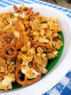 Sweet and Salty Party Mix from Plain Chicken.  Planning to make this for our superbowl party.  It looks really good.