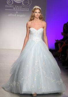 alfred angelo blue wedding dress...  Cinderella