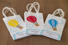 NEW!!!! Hot air balloon Favor bags (Set of 12) Personalized by FestivaPartyDesign on Etsy