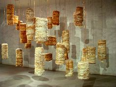 Recycled Paper Sculptural Installations by Susan Benarcik Susan Benarcik, Susan Benarcik artist, Susan Benacik enviro art installations, Sus...