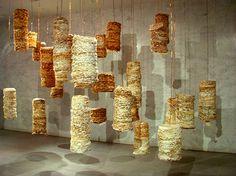 Recycled Paper Sculptural Installations by Susan Benarcik
