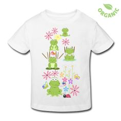 frogs and flowers kid's t-shirt