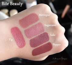 Bite Beauty Lipsticks Fig Swatches