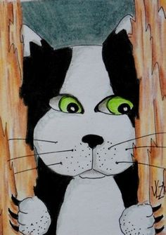 HERE'S KITTY! aceo on ebay