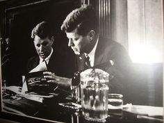 President Kennedy and brother Robert.