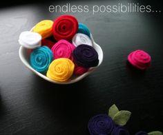 felt rosettes tutorial