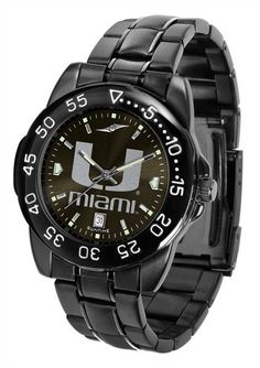 Men's FantomSport Watch by Suntime The FantomSport boasts a bold but not in your face image of your favorite school logo in metallic silver on a black AnoChrome dial. This fan favorite features a dark