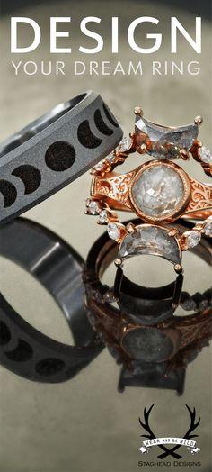 Wooden Wedding Bands, Custom Wedding Rings, Wedding Ring Designs, Wedding Ideas, Service Logo, Auto Service, Pagan Jewelry, Fantasy Jewelry, Snapchat Best Friends