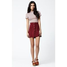 Kendall & Kylie Mock Neck Short Sleeve Top ($25) ❤ liked on Polyvore featuring tops, stretchy tops, multi color tops, pattern tops, short sleeve tops and mock neck top