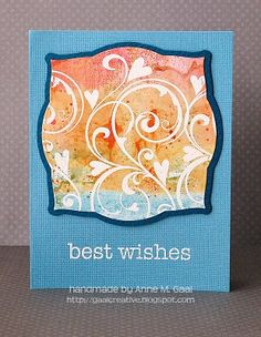 Best Wishes Card by Anne Gaal of Gaal Creative at http://www.gaalcreative.com - Feel free to re-pin! ♥