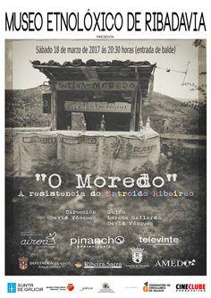 """Cartaz da proxección no Museo Etnolóxico o 18/03/2017 do documental de David Vázquez sobre o entroido ribeirao: """"O Moredo. A resistencia do entroido ribeirao"""""""