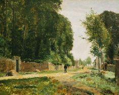 Une allée à la Queue-en-Brie, 60 x 73 cm, h/t, Pau, Musée des Beaux-Arts