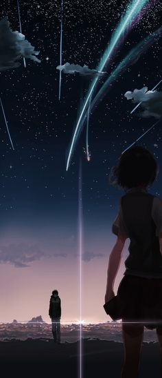 "Thank you senpai for being here, watching together the sky, "" what senpai think about sky, I wonder what he feel or what is he thinking?"""