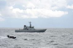 Royal Danish Navy patrol vessel HDMS Freja.