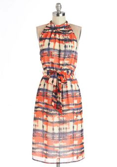 Winsome Watercolors Dress, #ModCloth