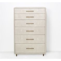 Interlude Home Calypso Tall Ivory Chest