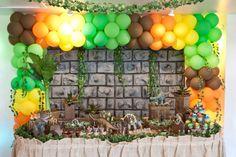 Festa Infantil Com Tema de Dinossauro