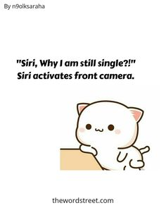 """Tag someone ❤️ and follow us @thewordstreet 🔥 """"Siri,Why I am still Single?!"""" Siri,opens the front camera.😂😂😂➖ ➖ ➖ ➖ ➖ ➖ words by @n9olksaraha Use #thewordstreet in your posts to get feature 🏅 ➖ ➖ ➖ ➖ ➖ ➖  #wordsofwisdom #lifequotes #quoteoftheday #quotesdaily #wordporn #fun Best Love Quotes, Sad Quotes, Motivational Quotes, Life Quotes, Still Single, Instagram Handle, Siri, Word Porn, Friendship Quotes"""
