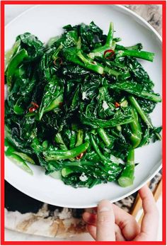 Healthy leafy greens - Chinese Broccoli with Garlic Sauce! Easy Chinese Broccoli stir fry (kai lan) with garlicky sauce is Vegan, Paleo, Keto, and low carb. A great way to add dark leafy greens to your meal. Whole30 Dinner Recipes, Paleo Recipes Easy, Whole 30 Recipes, Asian Recipes, Vegetarian Recipes, Easy Vegetable Stir Fry, Vegetable Side Dishes, Vegetable Recipes, Chinese Broccoli Recipe