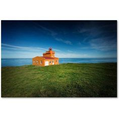 Trademark Fine Art 'Lighthouse Sauoanes' Canvas Art by Philippe Sainte-Laudy, Size: 30 x 47, Multicolor
