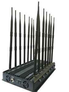 New Stationary GPS Signal Jammer / Blocker with 14 Antenna; GPS WiFi VHF UHF 4G 315 433 Lojack Blocker