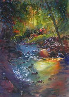 """Woodland Stream"" by Robin Berry."