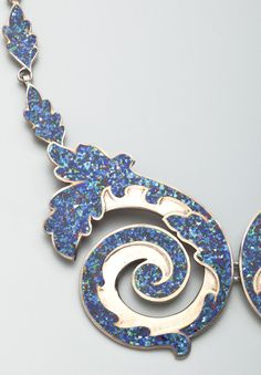 MARGOT DE TAXCO Sterling and Multi-Colored Enamel Necklace (1955)