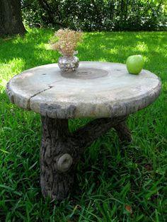 faux bois patio table