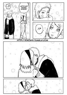 NaruSaku - Kiss in the Snow by NaruSasuSaku91 on DeviantArt