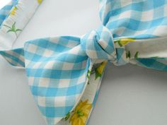 """Blue and White Gingham Bowtie. Freestyle and Reversible <a href=""""http://www.etsy.com/listing/98970961/blue-and-white-gingham-bowtie-reversible"""" rel=""""nofollow"""" target=""""_blank"""">www.etsy.com/...</a>"""