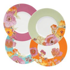 @Overstock.com - Lenox Floral Fusion Dessert Plates (Set of 4)  - This Floral Fusion set by Lenox includes dessert plates in delicious colors. Each plate features a different color band (fuchsia, aqua, soft green or warm orange) and is decorated with an irresistible floral motif.  http://www.overstock.com/Home-Garden/Lenox-Floral-Fusion-Dessert-Plates-Set-of-4/7972578/product.html?CID=214117 $34.49