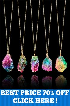 NEW - REIKI HEALING RAINBOW PENDANT CRYSTAL CHAKRA ROCK NECKLACE 191 REVIEWS