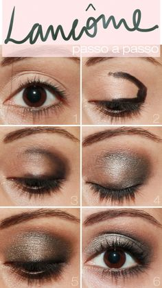 Lancôme eye shadow step by step