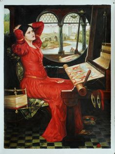 "Waterhouse, ""I'm half-sick of shadows"", said the Lady of Shalot. 1916, 100*74 cm."