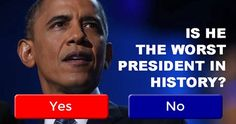Is Obama The Worst President In US History?$20 trillion in US debt, highest number of Americans out of the workforce and on food stamps in US history. Obamacare shoved down Americans throats, coun…