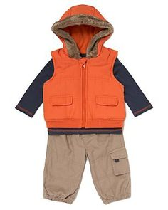 3 Piece Gilet Baby Outfit