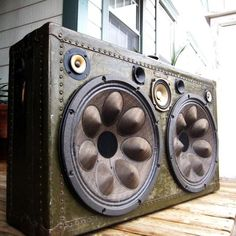 Fancy - Vintage Suitcase Boombox by BoomCase
