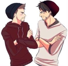 Beanie Buddys Jacksepticeye and Markiplier, credit to original artist who made this