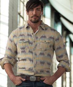 Men's Ryan Michael Aztec Jacquard Shirt at Maverick Western Wear