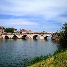 Rimini.Ponte Tiberio#rimini#римини#италия#italy#italia#emiliaromagna#vivoemiliaromagna#panorama#vivorimini #ponte by katerina_k_italy