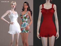 French flair dress for The Sims 4