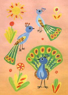 Животные Африки - уроки рисования красками для детей