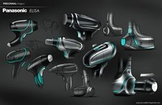 Panasonic Elisa on Behance by Pascal Ruelle Id Design, Sketch Design, Tool Design, Plastic Moulding, Etch A Sketch, Sketching Techniques, Industrial Design Sketch, Cool Sketches, Graphic Design Illustration