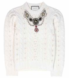 Embellished wool and cashmere sweater | Gucci
