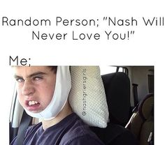 "Them: ""You can't be so in love with someone you've never met"" Me: ""Oh really"" @cheryl ng Nash Grier"