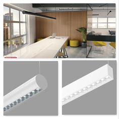 The Revo pendant offers a fresh interpretation of a classic shape, both attractive and functional. Visual Texture, Office Lighting, Conference Table, Lighting Design, Office Decor, School, Light Design, Desk Light, Schools