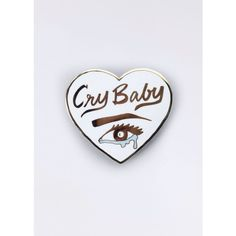 Little Arrow Cry Baby Pin ($10) ❤ liked on Polyvore featuring jewelry, brooches, safety pin jewelry, safety pin brooch, leather jewelry, pin jewelry and pin brooch