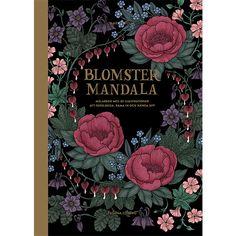 Målarbok Blomstermandala Tavelbok