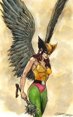 Hawkgirl by Ryan Kelly